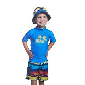 New Boy's UV Skinz 3 Piece Rash Guard Swim Set